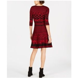Taylor Dresses - TAYLOR Jacquard Fit and Flare Dress